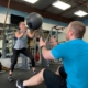 Personal Training with medicine ball toss
