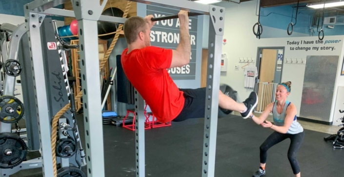 Personal trainers Jesse Kepka and Chad Austin have been training together for several years.