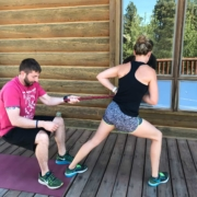 Personal training can include suggestions for exercises to do at home.