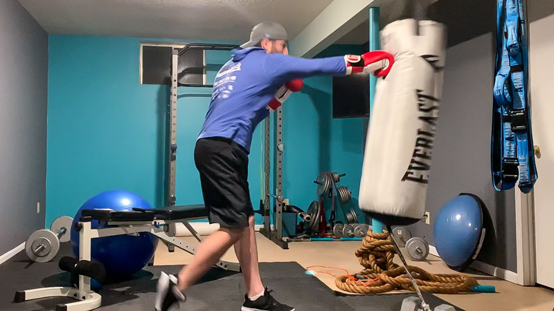 Heavy Bag Boxing Exercise