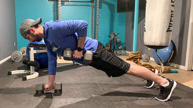 Renegade Row Dumbell Exercise Helps with Recovery